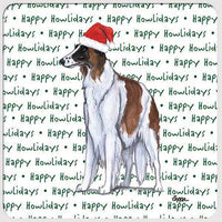 "Borzoi ""Happy Howlidays"" Coaster"
