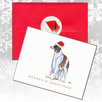 Borzoi Christmas Note Cards
