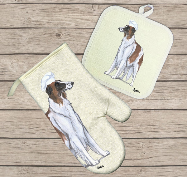 Borzoi Oven Mitt and Pot Holder