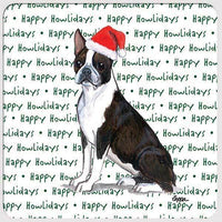 "Boston Terrier ""Happy Howlidays"" Coaster"