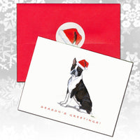 Boston Terrier Christmas Note Cards