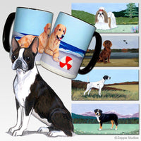 Boston Terrier Scenic Mug