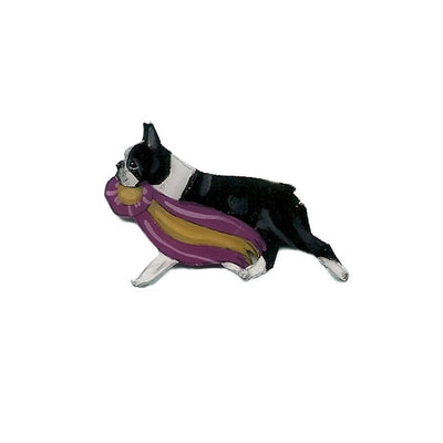 Hand-Painted Boston Terrier Pin