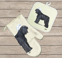 Bouvier des Flandres Oven Mitt and Pot Holder