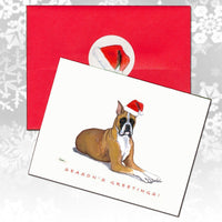 Boxer Christmas Note Cards