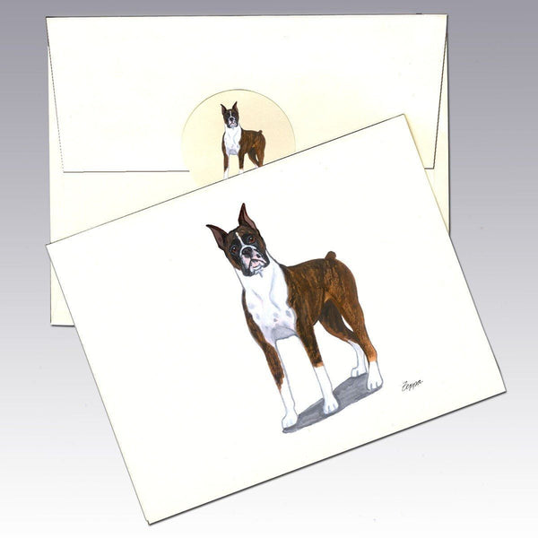 Boxer, Brindle Note Cards