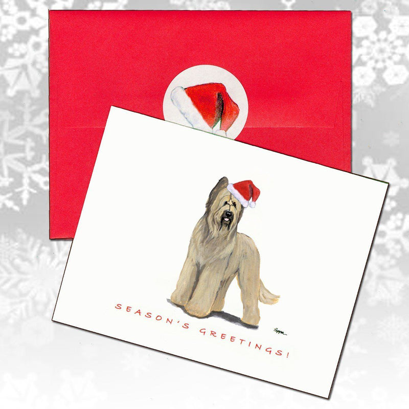Briard Christmas Note Cards