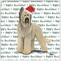 "Briard ""Happy Howlidays"" Coaster"