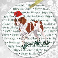 "Brittany ""Happy Howlidays"" Ornament"