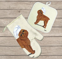 Brussels Griffon Oven Mitt and Pot Holder