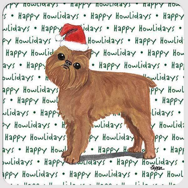 "Brussels Griffon ""Happy Howlidays"" Coaster"