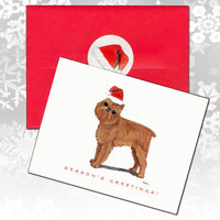 Brussels Griffon Christmas Note Cards