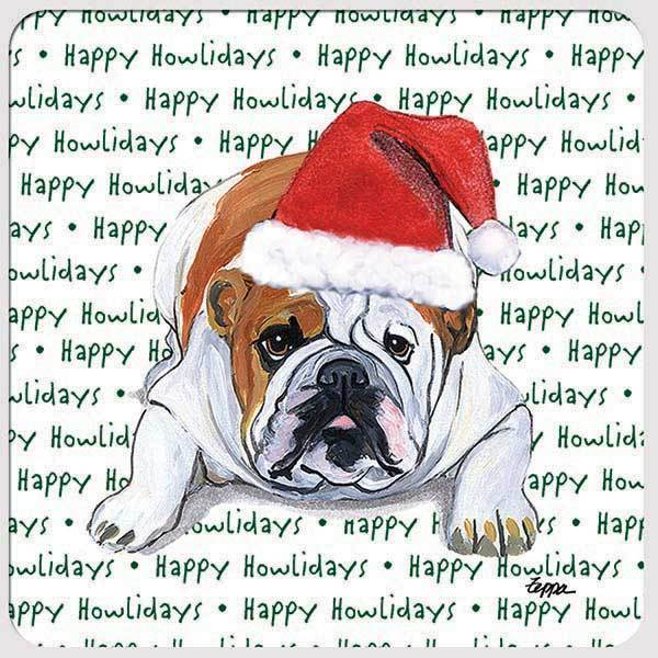 "Bulldog ""Happy Howlidays"" Coaster"