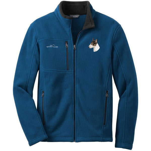 Bull Terrier Embroidered Mens Fleece Jackets
