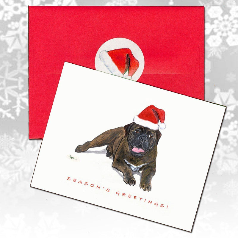 Bullmastiff Christmas Note Cards