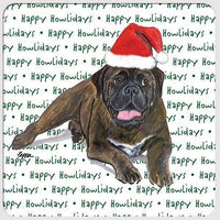 "Bullmastiff ""Happy Howlidays"" Coaster"