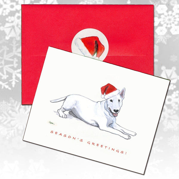 Bull Terrier Christmas Note Cards