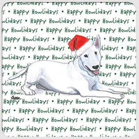 "Bull Terrier ""Happy Howlidays"" Coaster"