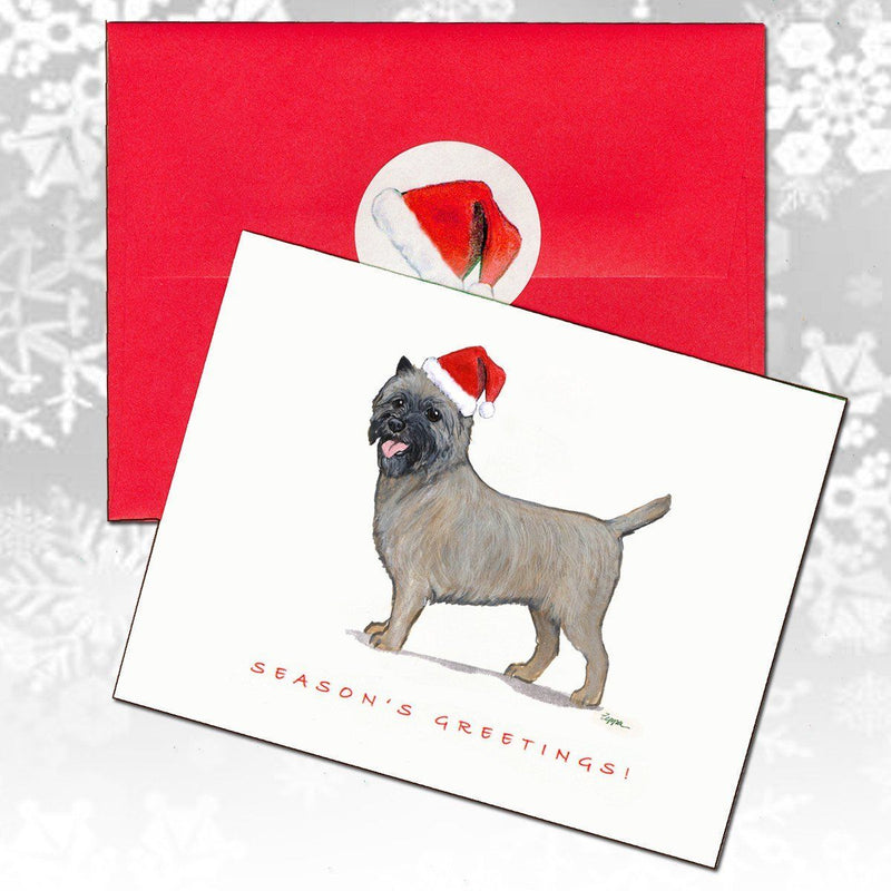 Cairn Terrier Christmas Note Cards