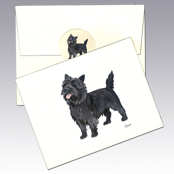 Cairn Terrier, Black Note Cards