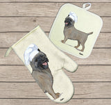 Cairn Terrier Oven Mitt and Pot Holder