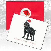Cane Corso Christmas Note Cards