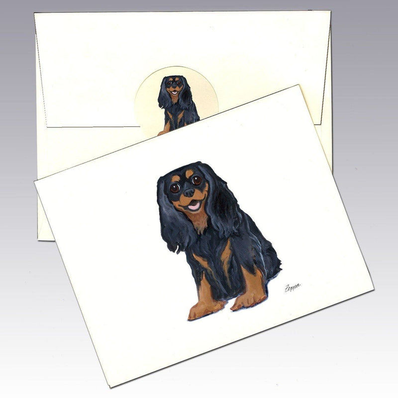 KING CHARLES TOY SPANIEL CHARMING DOG GREETINGS NOTE CARD TWO CUTE DOGS /& LETTER