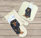 Cavalier King Charles Spaniel Oven Mitt and Pot Holder