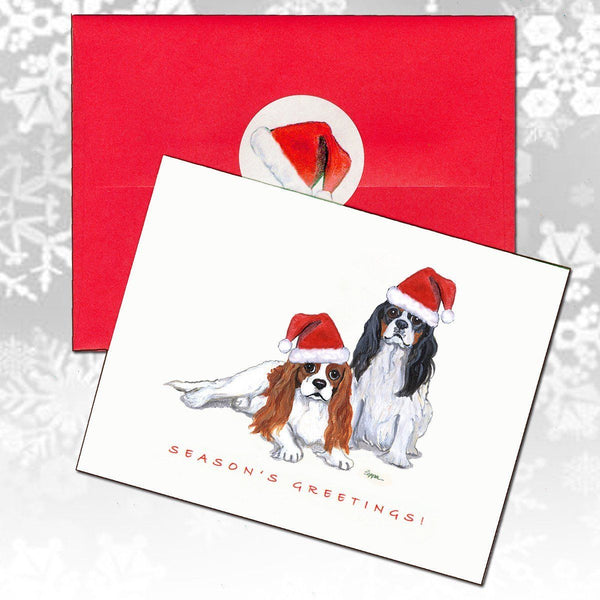 Cavalier King Charles Spaniel Christmas Note Cards