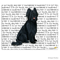 Briard, Black Cutting Board