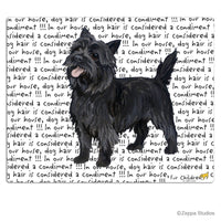 Cairn Terrier, Black Cutting Board
