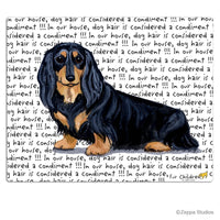 Dachshund, Black and Tan Longhair Cutting Board