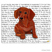 Dachshund, Red Cutting Board