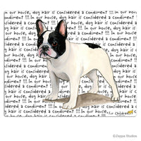 French Bulldog, Black and White Cutting Board