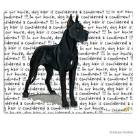 Great Dane, Black Cutting Board