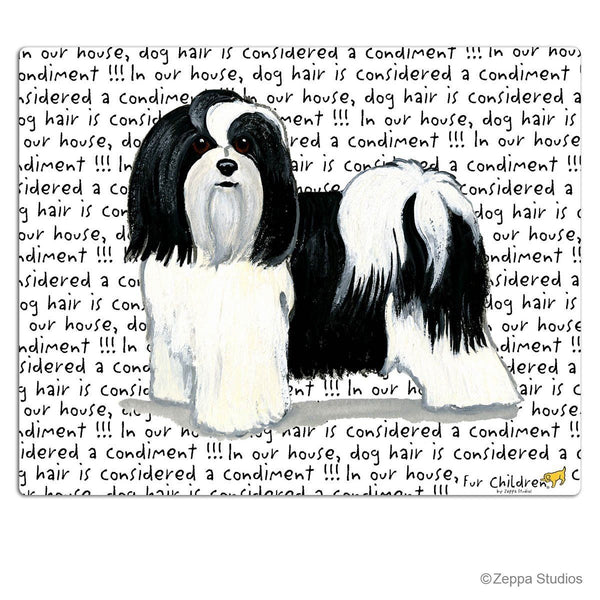 Havanese, Black and White Cutting Board