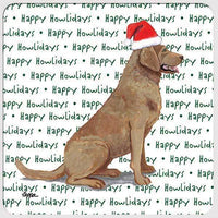 "Chesapeake Bay Retriever ""Happy Howlidays"" Coaster"