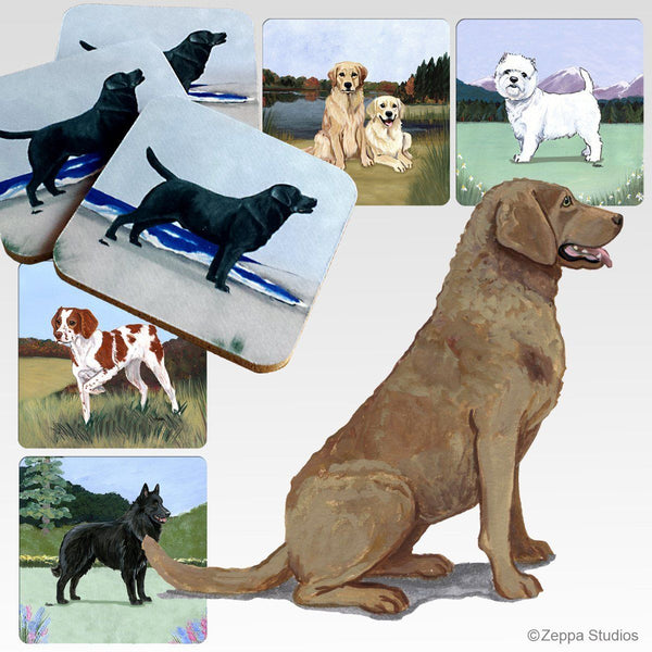 Chesapeake Bay Retriever Scenic Coaster