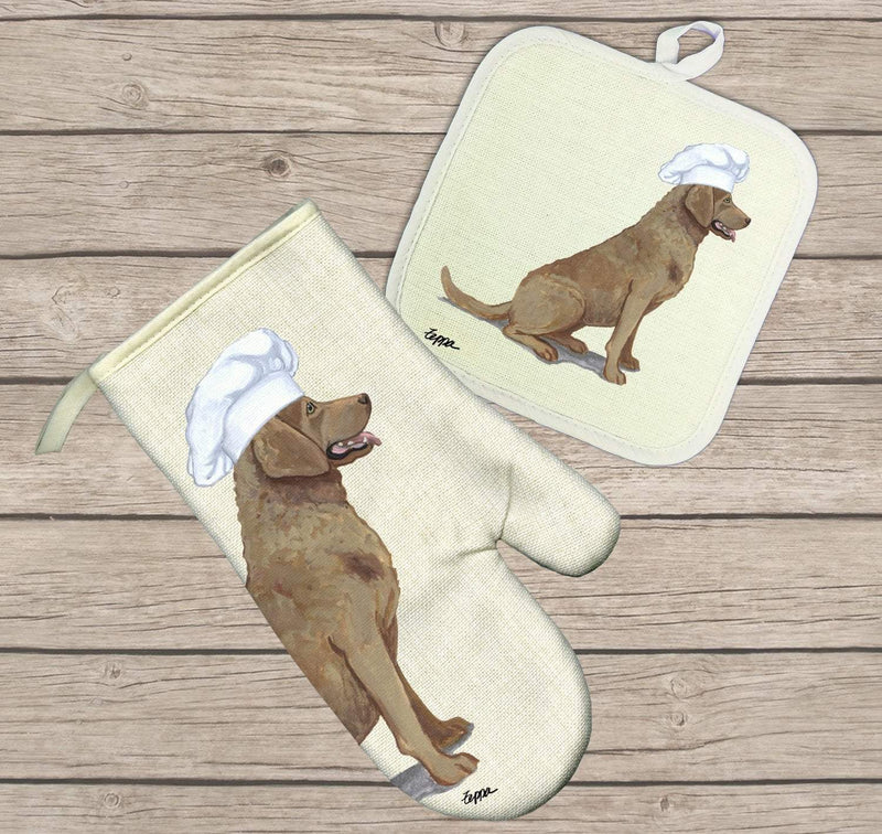 Chesapeake Bay Retriever Oven Mitt and Pot Holder