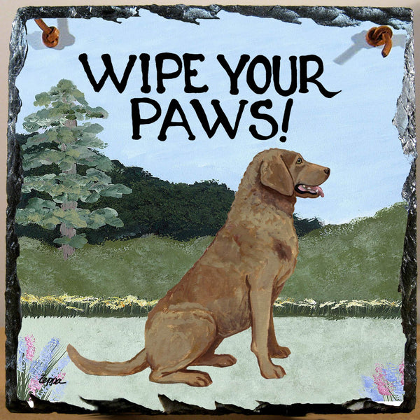 Chesapeake Bay Retriever Slate Sign