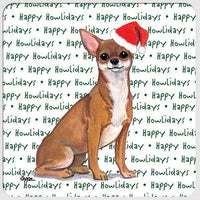"Chihuahua ""Happy Howlidays"" Coaster"
