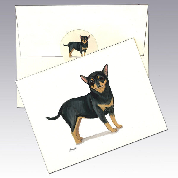 Chihuahua, Black and Tan Note Cards