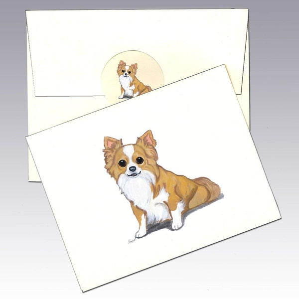 Chihuahua, Long Haired Note Cards