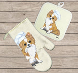 Chihuahua Oven Mitt and Pot Holder