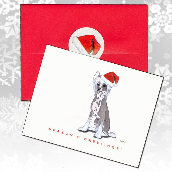 Chinese Crested Christmas Note Cards