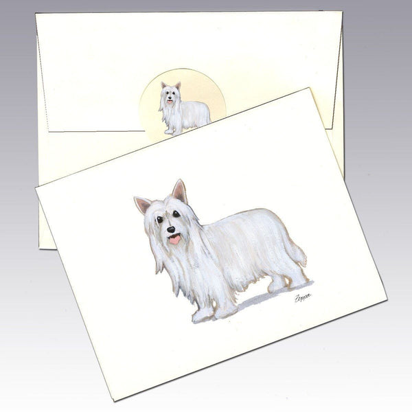 Chinese Crested, Powderpuff Note Cards