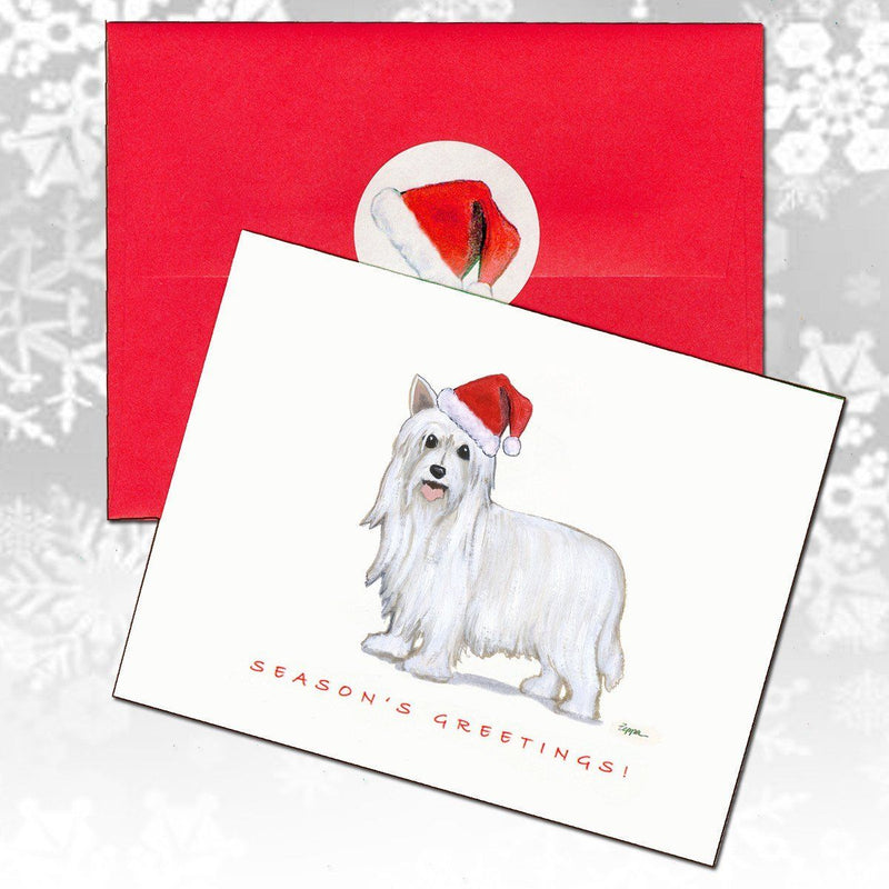 Chinese Crested, Powderpuff Christmas Note Cards