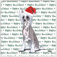 "Chinese Crested ""Happy Howlidays"" Coaster"