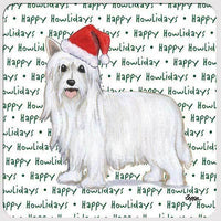 "Chinese Crested, Powderpuff ""Happy Howlidays"" Coaster"
