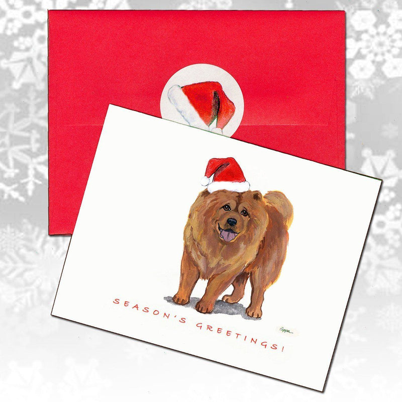 Chow Chow Christmas Note Cards